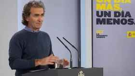 Fernando Simón en la rueda de prensa diaria de Moncloa