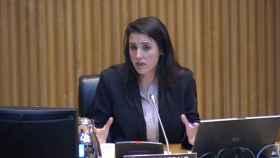 Irene Montero, ministra de Igualdad, en la comisión del Congreso.