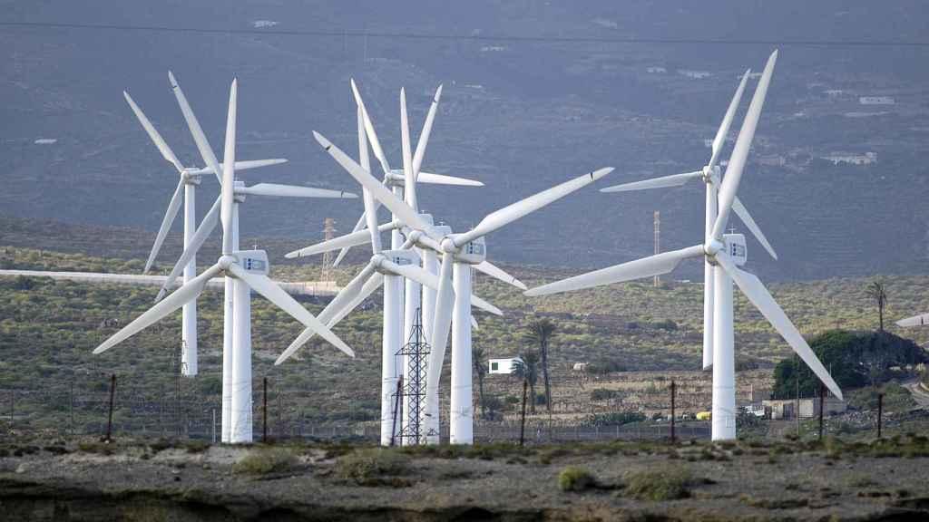 Parque eólico en Tenerife.