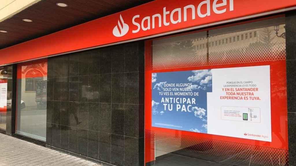 Una sucursal del Banco Santander.