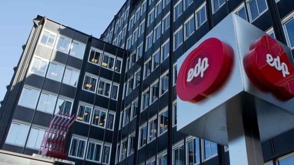Logotipo de EDP en unas de sus oficinas.