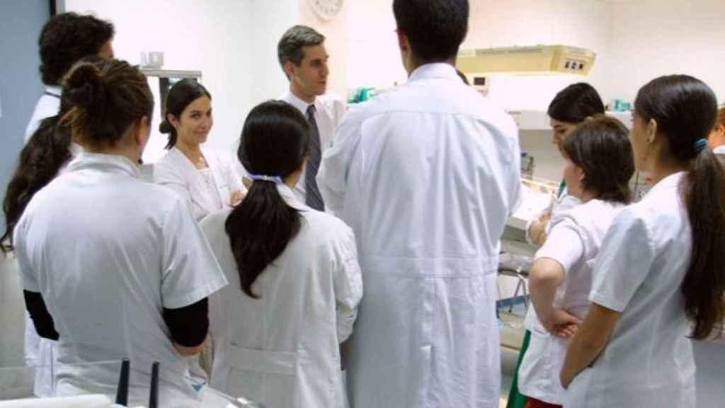 Un grupo de estudiantes MIR.