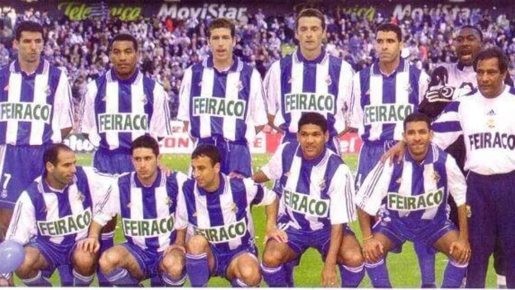 La plantilla del Deportivo durante la temporada 1999/2000