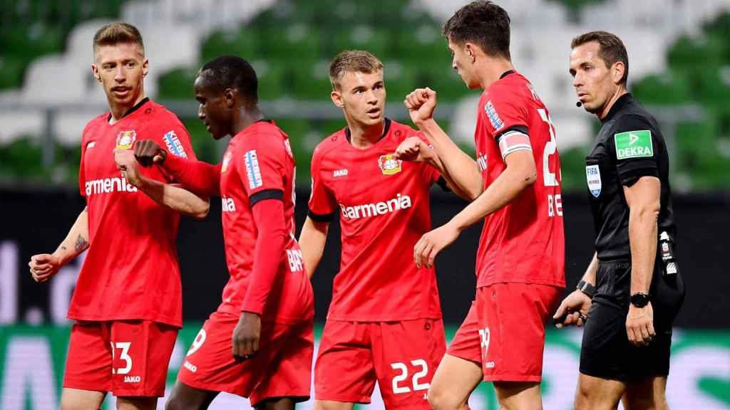 Kai Havertz celebra uno de sus goles con sus compañeros