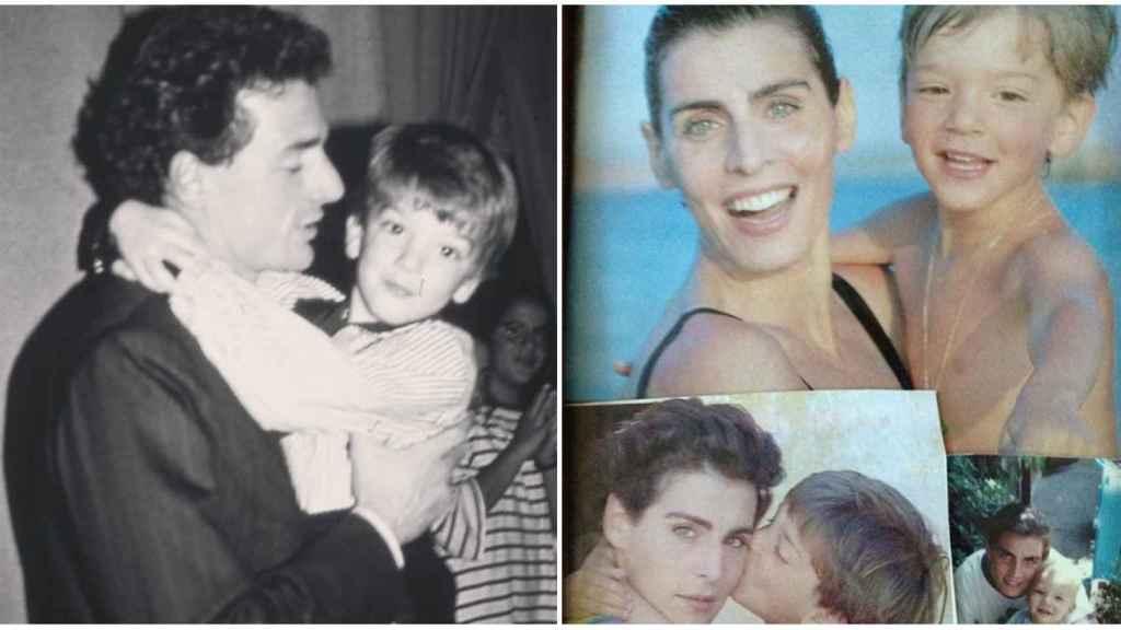 Fotos de la infancia de Clemente junto a sus padres.