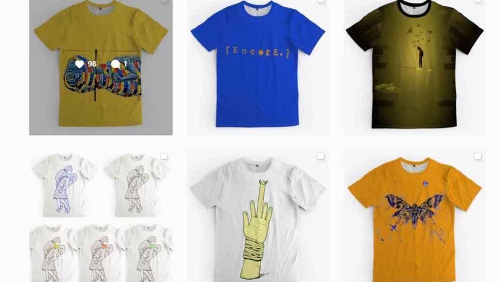 Algunos de los diseños de Clemente en su página web.