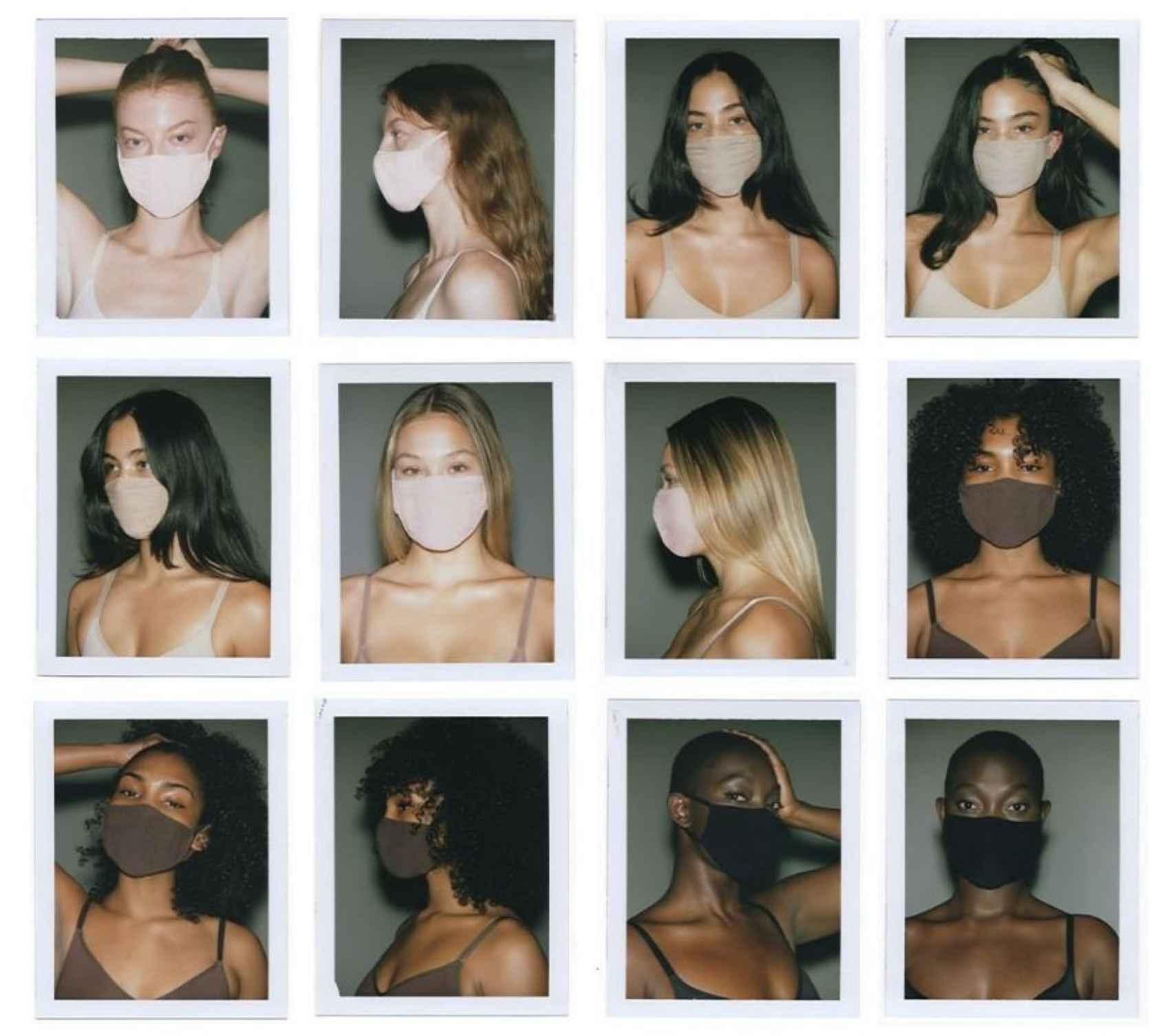 Catálogo de las mascarillas comercializadas por la firma de Kim Kardashian.