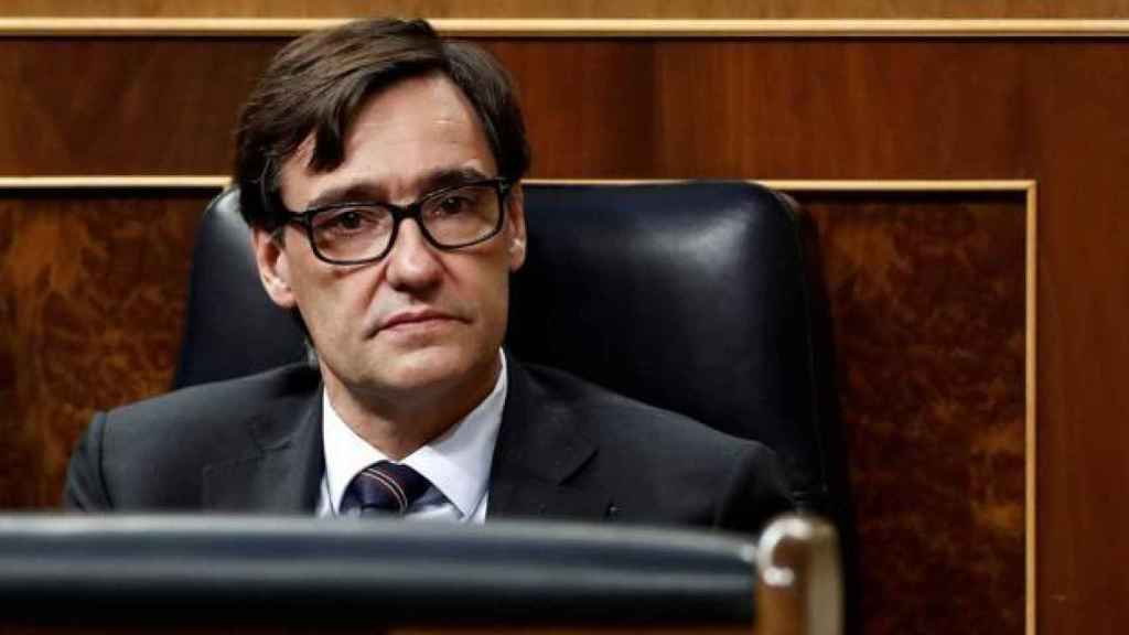 El ministro de Sanidad, Salvador Illa, en el Congreso de los Diputados.
