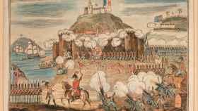 Ilustración sobre el asedio de San Sebastián.