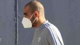 Fali, jugador del Cádiz, llegando a su primer entrenamiento