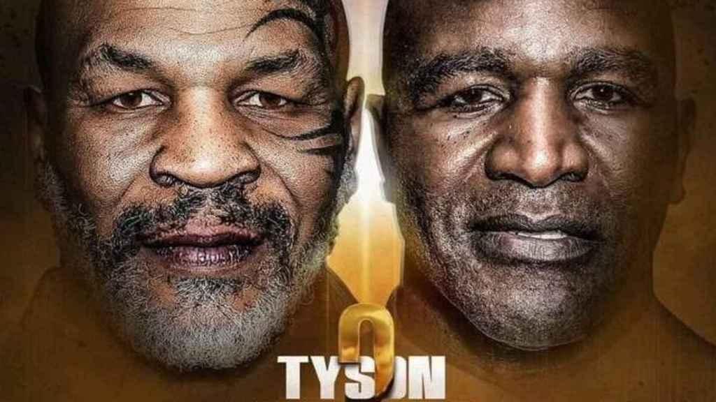 Cartel del posible combate entre Mike Tyson y Evander Holyfield