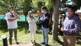 La alcaldesa de Toledo, Milagros Tolón, ha visitado este martes las obras (Ó. HUERTAS)