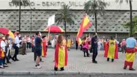 Concentración en Sevilla contra el Gobierno central por la gestión del coronavirus.