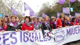 Manifestación en Madrid el pasado 8 de marzo con motivo del Día de la Mujer.