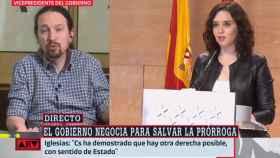 El vicepresidente Pablo Iglesias, entrevistado en directo.