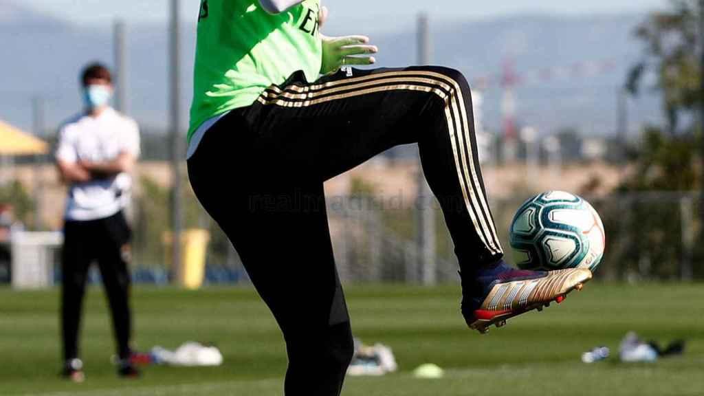 ZInedine Zidane, durante el entrenamiento