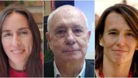 Los matemáticos Ana Díaz, Francisco Marcellán y Marta Moreno.