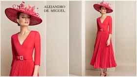 Modelo con vestido de Alejandro de Miguel.