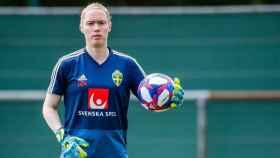 Hedvig Lindahl, portera de la selección de Suecia de fútbol femenino y del Wolfsburgo