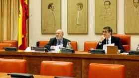El presidente del Centro de Investigaciones Sociológicas (CIS), José Félix Tezanos, ante la Comisión Constitucional. Foto: Congreso