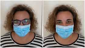 María Jesús, una de la usuarias que usan lentillas por la incomodidad de usar gafas con mascarilla.