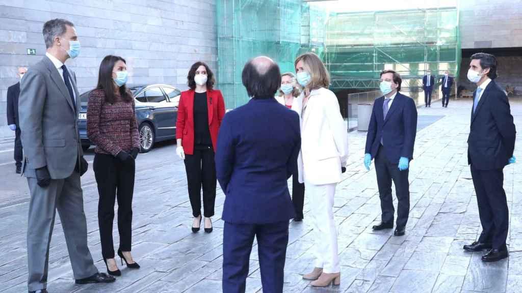 Este lunes los Reyes visitaron la sede de Telefónica.