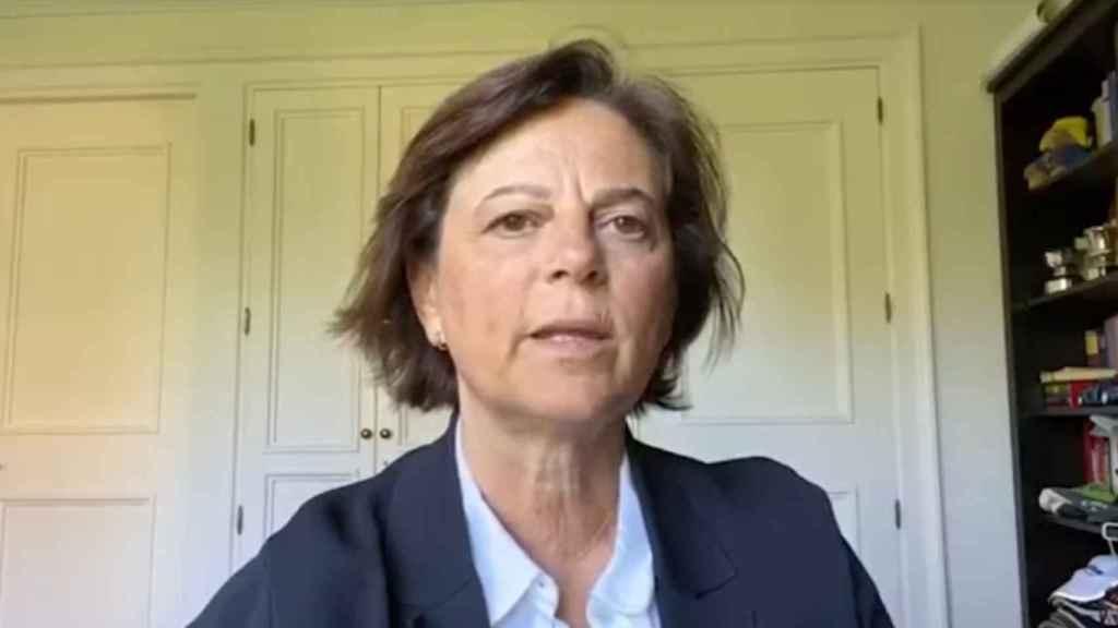 Carmen Morenés, directora general de Fundación Telefónica, durante la presentación del informe.