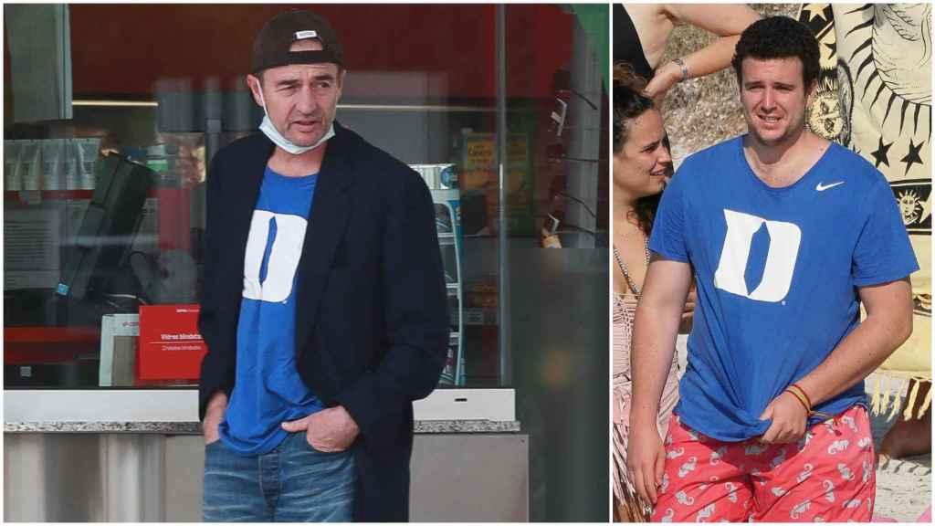 Alessandro y Álex Lequio luciendo la camiseta del Duke Blue Devils.