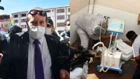 El ministro de Salud boliviano; los respiradores que compró el Gobierno a dos empresas españolas.