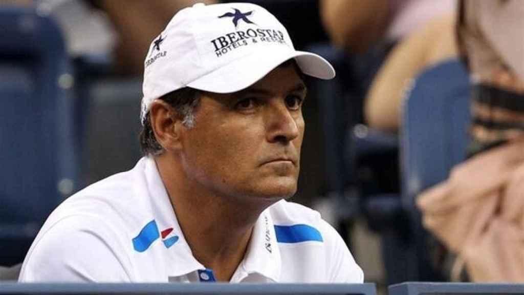 Toni Nadal, durante su etapa como entrenador de Rafa Nadal