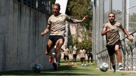 Sergio Ramos y Dani Carvajal