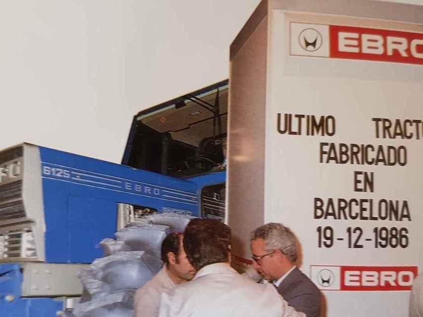 El último tractor Ebro fabricado en Barcelona