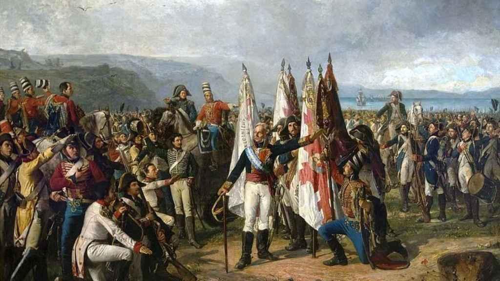 El Juramento del Marqués de la Romana, donde el militar jura con sus tropas lealtad a la patria en 1808.