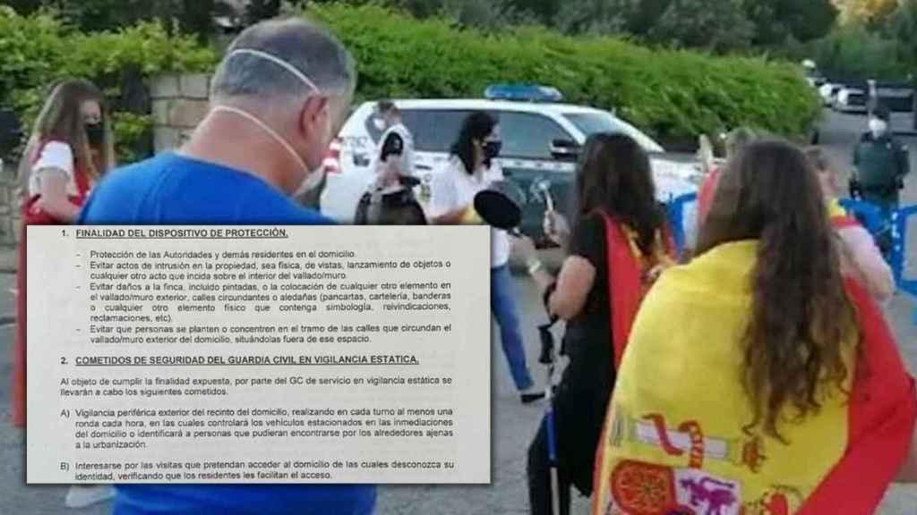 Protesta ante la casa de Iglesias y Montero esta misma semana.