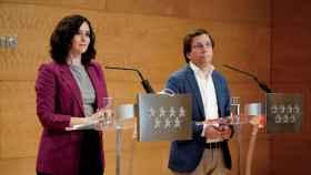 La presidenta de la Comunidad de Madrid, Isabel Díaz Ayuso, y el alcalde de Madrid, José Luis Martínez-Almeida.