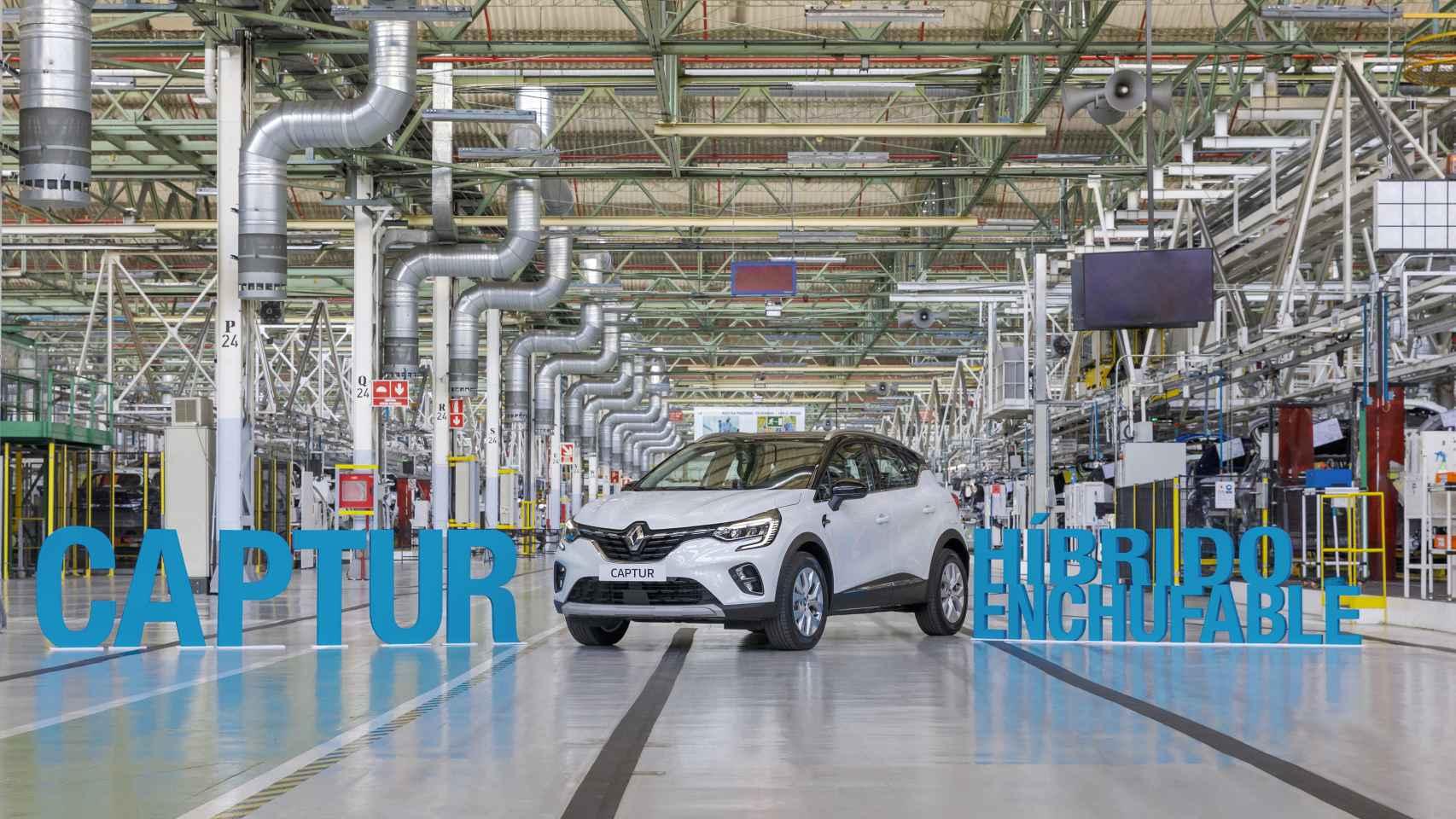 Imagen del Renault Captur híbrido enchufable.