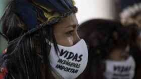 Protesta contra Bolsonaro en Manaos.