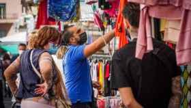 Mercadillo al aire libre en Nápoles