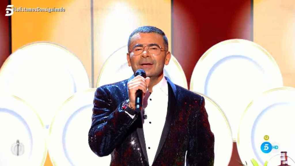 Jorge Javier, en plena actuación en 'La última cena'.