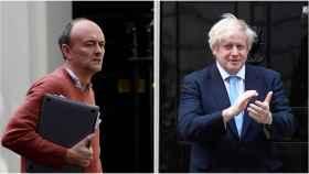 Dominic Cummings y Boris Johnson.