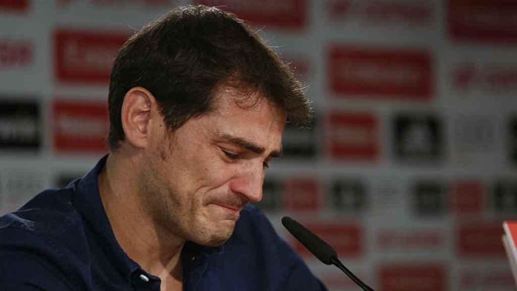 Iker Casillas, en su despedida del Real Madrid