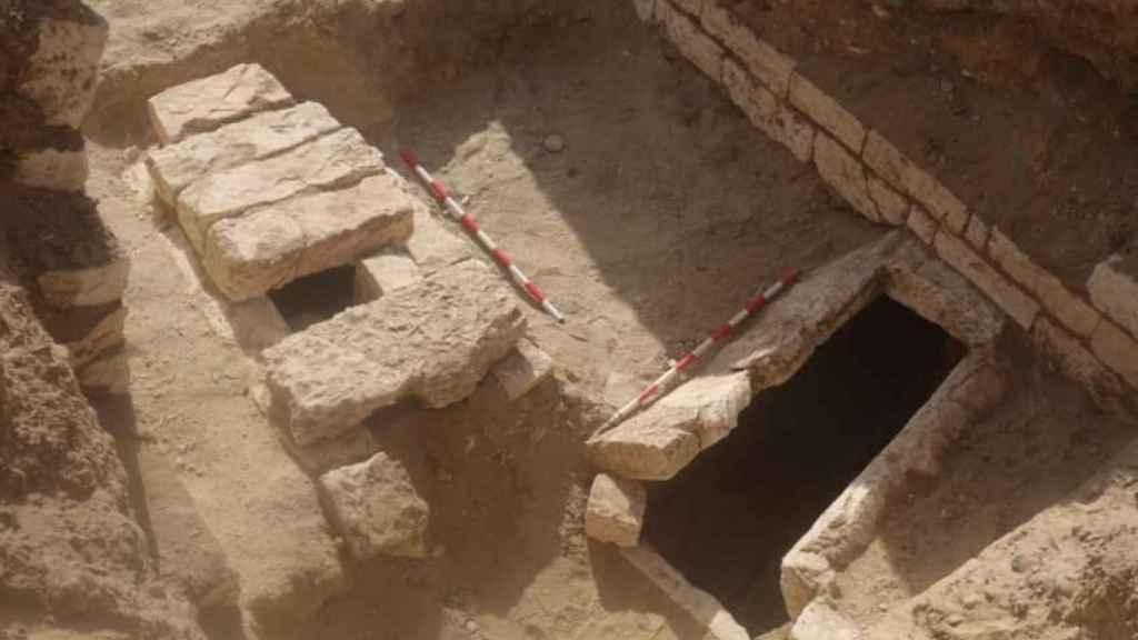 Varias de las tumbas halladas en Oxirrinco.