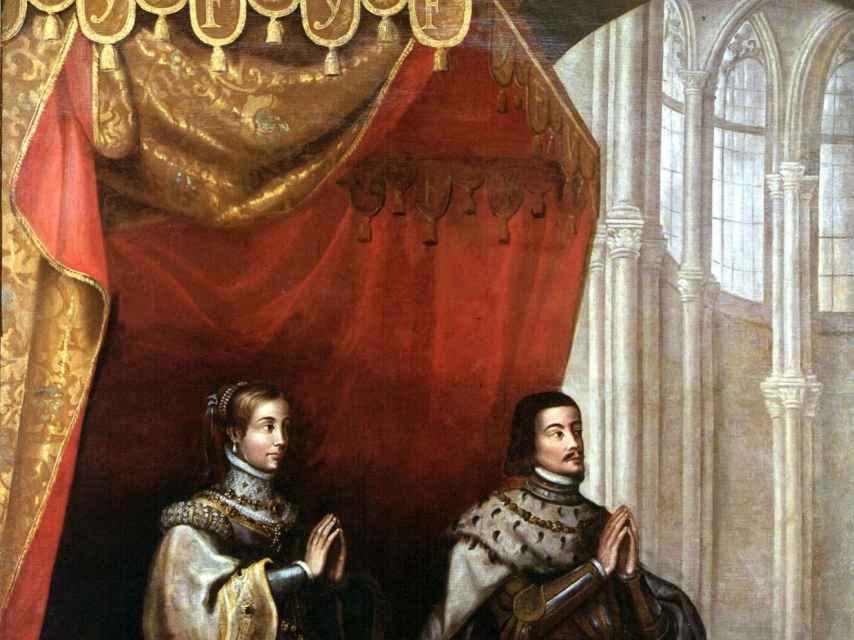 'Los Reyes Católicos bajo un dosel', lienzo anónimo del siglo XVII.