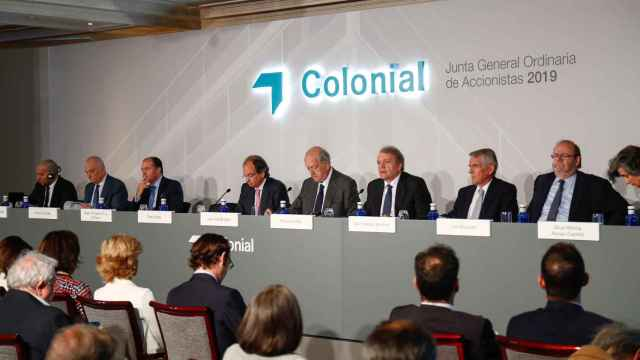 Imagen de la junta general de accionistas de Colonial celebrada el año pasado.