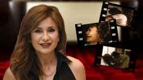 Gema López en un montaje de JALEOS con algunos fotogramas del corto en el que apareció.