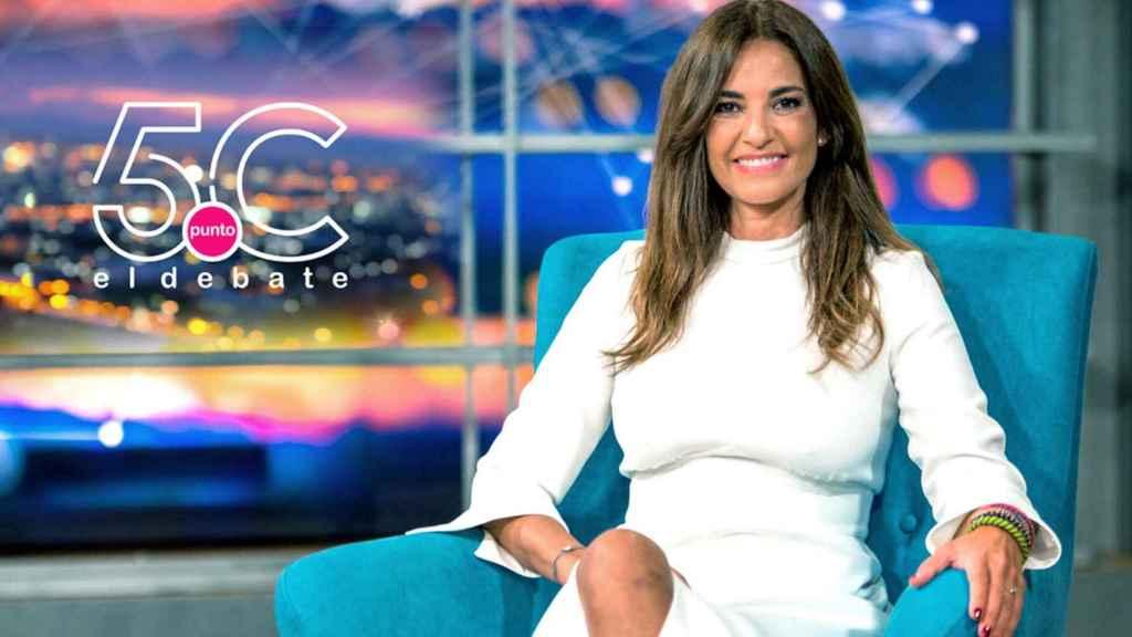Mariló Montero en una imagen promocional de su extinto programa '5.C El Debate'.