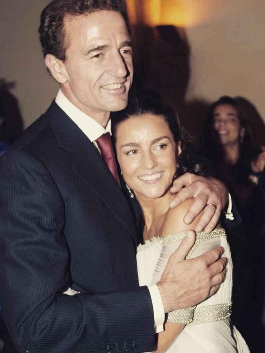 Alessandro Lequio y María Palacio el día de su boda.