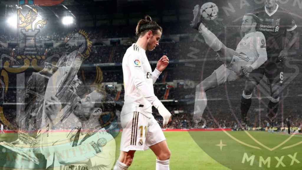 Gareth Bale, con la Champions League y marcando el gol de chilena ante el Liverpool