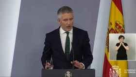 Fernando Grande Marlaska, ministro del Interior, en rueda de prensa.