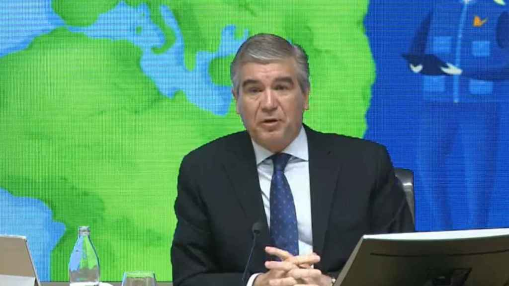 El presidente de Naturgy, Francisco Reynés, en la Junta de Accionistas.